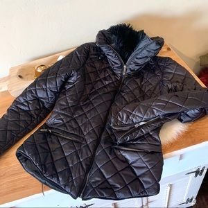 ZARA Woman Diamond quilted jacket
